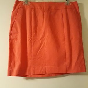 "Ann Taylor ""Madison Skirt"" Coral Color 8P"